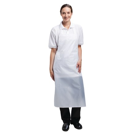 A897 Waterproof Bib Apron (White)