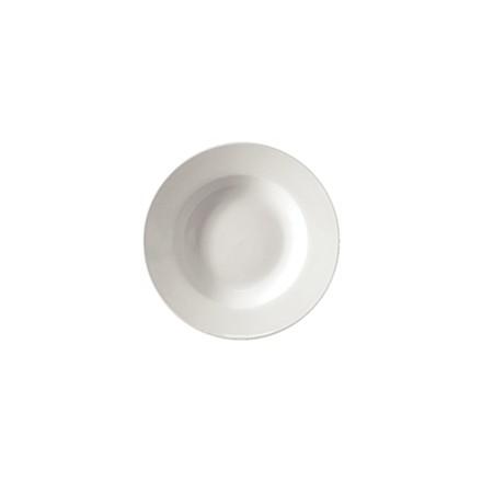 "6x Athena CC214 9"" Rimmed Soup Bowls Crockery"