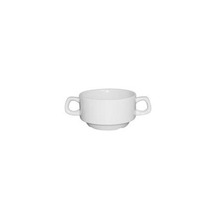 12x Athena CF369 10oz/285ml Stacking Soup Bowls Crockery