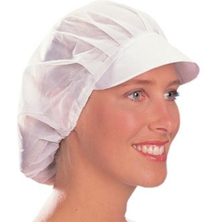 Traditional and stylish kitchen Net Peaked Hat White One Size B226