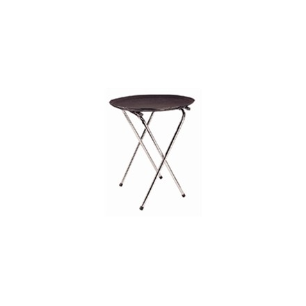 C163 Chrome Folding Tray Stand Table