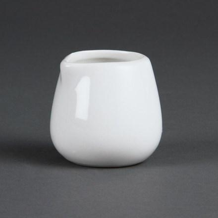 Olympia C204 Whiteware Cream and Milk Jugs 85ml 3oz