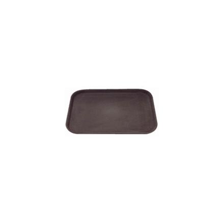 """C560 Anti-Slip Plastic Rectangular Tray Black - 356x508mm 15x18"""" Barware"""