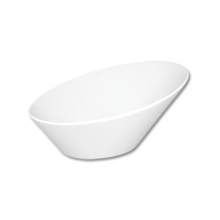 "4x Olympia CB079  6 x 5.4""/153 x 135mm 335ml Oval Sloping Bowls"