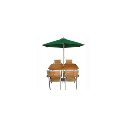 Bolero CB512 Green Round -2.5m Pulley Parasol
