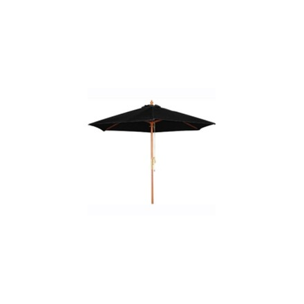 Bolero CB514 Black Round -2.5m Pulley Parasol