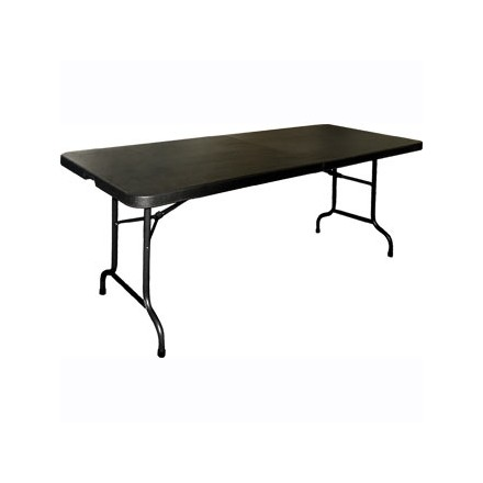 Bolera Centre Folding Table Black 6 Ft