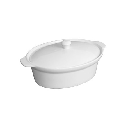 Olympia CD732 91 x 314 x 205mm Handled Oval Casserole Pot Crockery