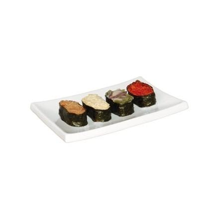 6x Olympia CE542  205 x  140 x 32mm Sushi Plates