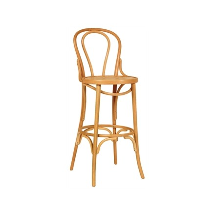 2x Bolera CF142 Natural Bentwood Bistro High Stool Furniture