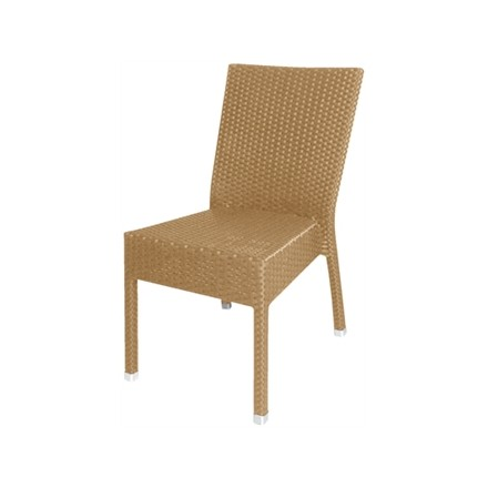 4x Bolera wicker side chair Natural (Pack of 4)