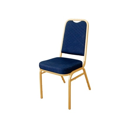 4x Bolera DL015 Blue Square Back Banqueting Chairs Furniture