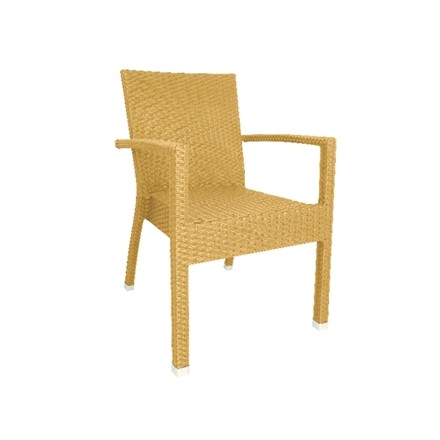 4x Bolera wicker armchair Natural (Pack of 4)