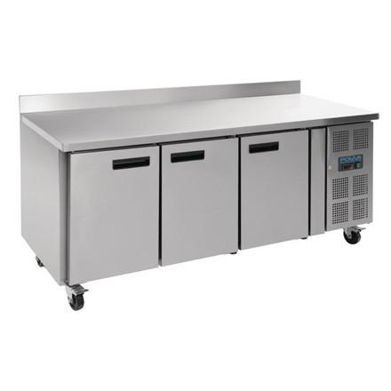 Polar DL917 Counter 3 Door Freezer with Upstand 417 Ltr