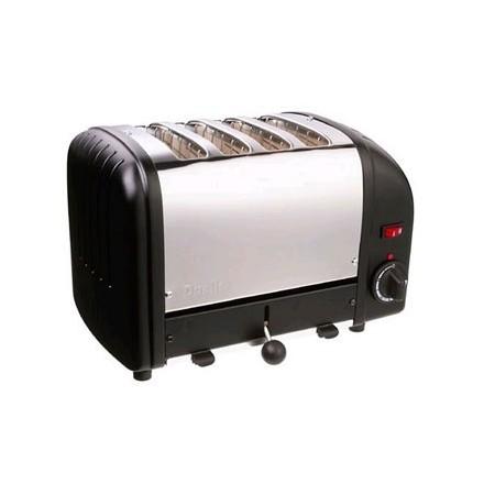 Dualit E266 4 Slot Bread Toaster Black standard finish 4 slot
