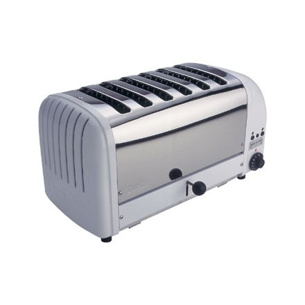 Dualit E975 6 Slot Bread Toaster White finish 6 slot