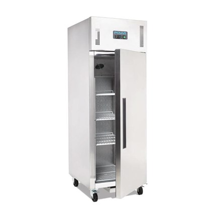 Polar G592 Single Door Fridge Stainless Steel 600Ltr