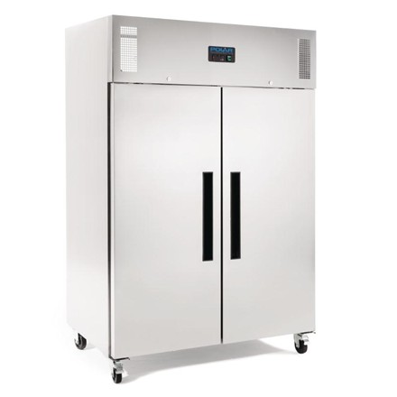 Polar G594 Double Door Fridge Stainless Steel 1200Ltr