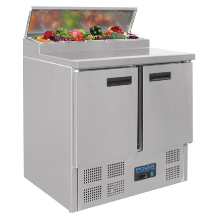Polar G604 Refrigerated Pizza and Salad Prep Counter 254Ltr
