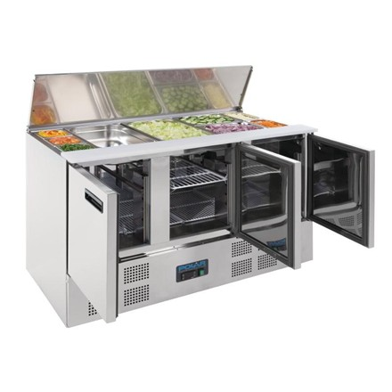 Polar G607 Refrigerated Saladette Counter 368Ltr