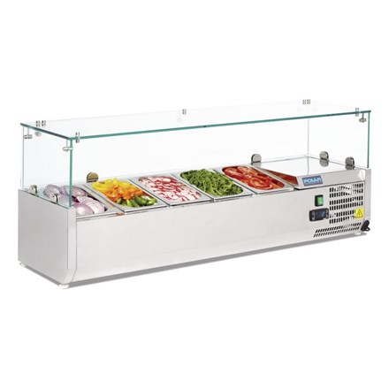 Polar G608 Refrigerated Countertop Servery Prep Unit 5x 1/4GN
