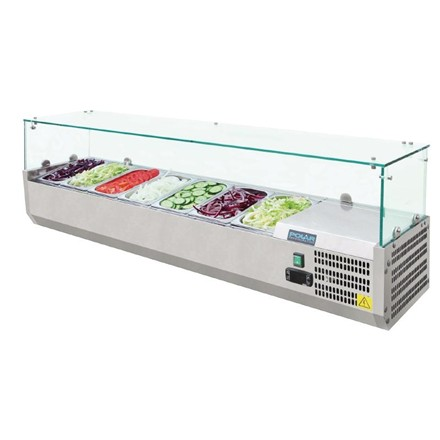 Polar G609 Refrigerated Counter Top Prep Servery Topper 7 x 1/4GN