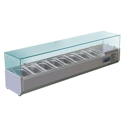 Polar G610 9 x 1/4GN Refrigerated Counter Top Servery Prep Unit