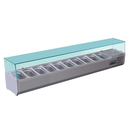 Polar G611 Refrigerated Counter Top Servery Prep Unit 10x 1/4GN
