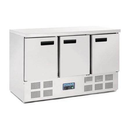 Polar G622 3 Door Counter Fridge 368Ltr
