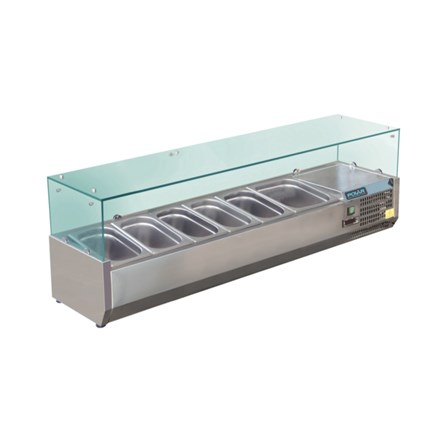 Polar GD876 Refrigerated Servery Topper 6 GN
