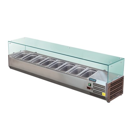 Polar GD877  Refrigerated Servery Topper 8x 1/3GN