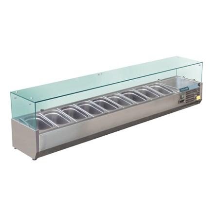 Polar GD878 Refrigerated Servery Topper 9x 1/3GN