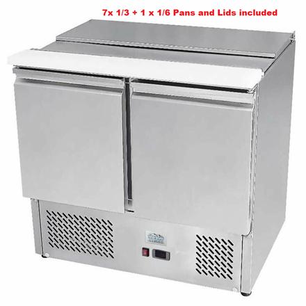 Ice-A-cool ICE3800GR 2 Door Sliding Lid Saladette Counter
