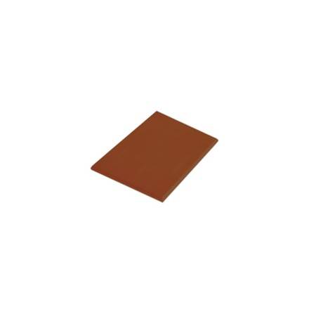 "Hygiplas J004 17.75"" x 12"" x 1/2"" 450 x 300 x 12mm Brown High Density Colour Cod"