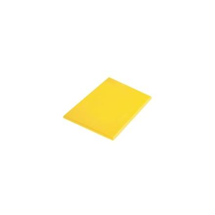 "Hygiplas J020 17.75"" x 12"" x 1/2"" 450 x 300 x 12mm Yellow High Density Colour Co"