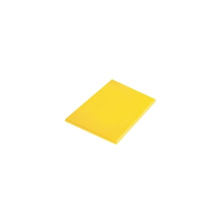 "Hygiplas J021 23.5"" x 17.75"" x 1/2"" 600 x 450 x 12mm Yellow High Density Colour"