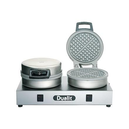 Dualit J449 Double Waffle Iron. Model 74002. 60 waffles per hour