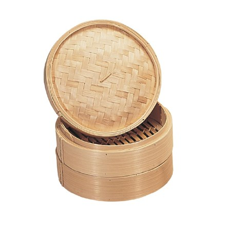 """ACME 6"""" Bamboo Food Dim Sum Steamer with lid"""