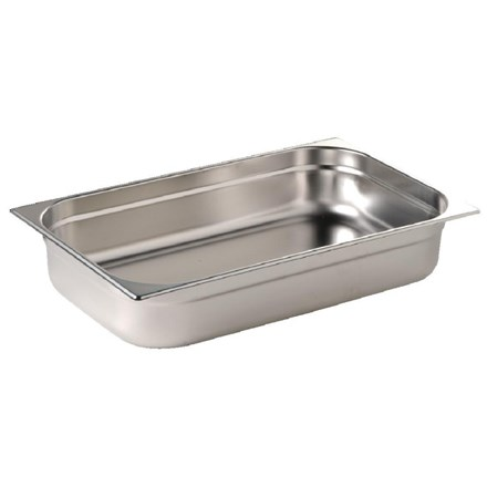 VOGUE K903 STAINLESS STEEL 1/1 GASTRONORM PAN 65MM