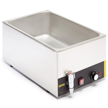 Buffalo L310 Wet Heat Bain Marie with Tap without Pans