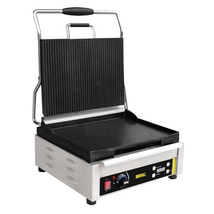 Buffalo L530 Large Single Contact Grill Ribbed Top