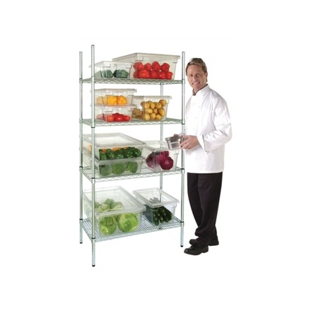 Vogue L927 4 Tier Wire Shelving Kit 915x 457mm