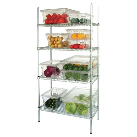 Vogue L939 4 Tier Wire Shelving Kit 1830x 460mm
