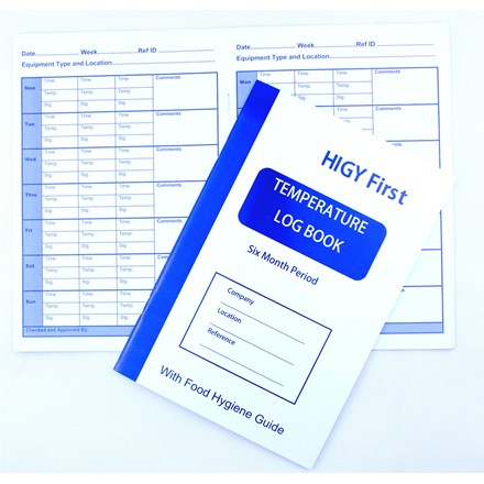 HYGI FIRST Kitchen Temperature Log Book 6 Months Fridge Freezer