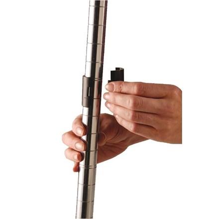 Vogue N435 Black shelf clips for all chrome shelving