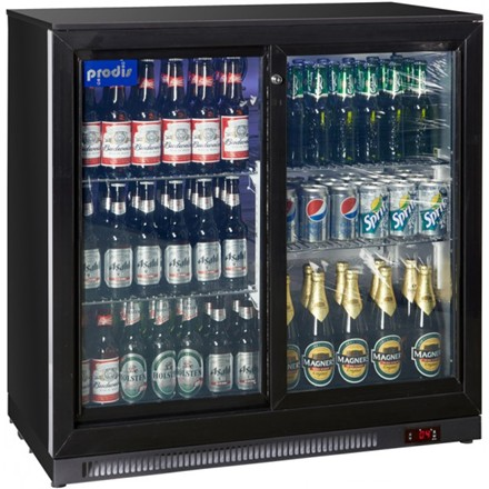 Prodis NT2BS Black 2 Sliding Doors 220 litres 900mm