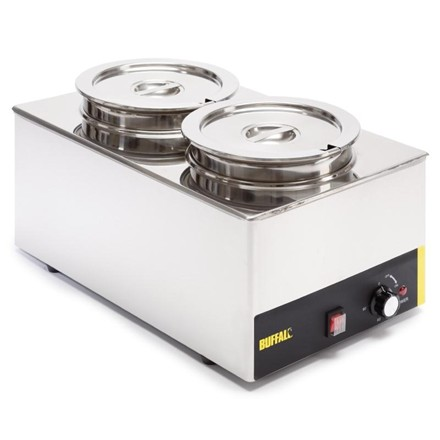 Buffalo S077 Bain Marie with Round Pots