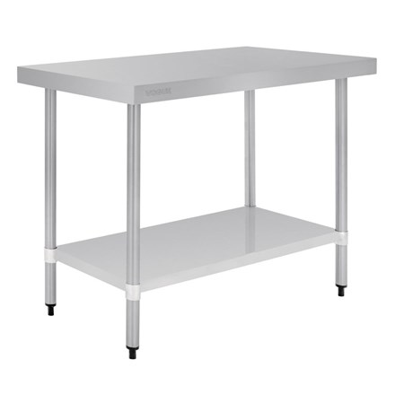 Vogue T376 Stainless Steel Prep Table 1200mm