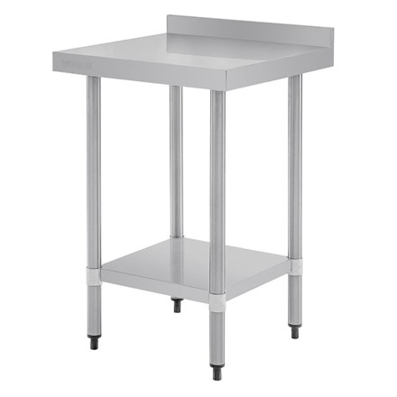 Vogue T379 Stainless Steel Prep Table With Upstand 600mm