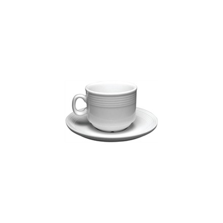 12x Olympia U083 3oz Saucer Stacking Espresso Cups & Saucers Crockery